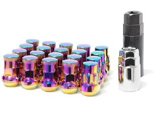 Muteki Close End SR35 Neo Chrome Lug Nuts Lock Set (16+4 lock)