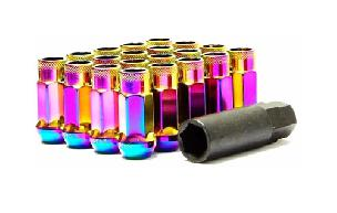 Muteki Open End Extended SR48 Neo Chrome Lug Nuts (20)