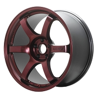 Gram Lights 57DR 18x9.5 5x114.3 +38 Wheels Sputter Red (free lugnuts)