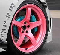 Gram Lights 57CR 17x9 5x100 +38 wheels Sakura Pink