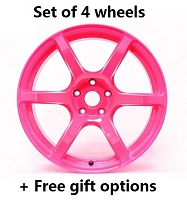Gram Lights 57C7 17x9 5x100 +40 wheels Luminous Pink (+FREE GIFT)