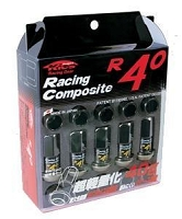Project Kics R40 Lug Nuts 12x1.5 Black