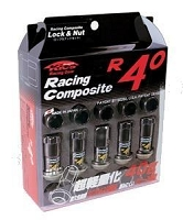 Project Kics R40 Lug Nuts 12x1.5 Black (with lock)