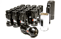 Project Kics R40 Iconix Lug Nuts 12x1.50 Black (with lock)