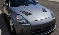 Verus Hood Louver Kit 350Z (Black)